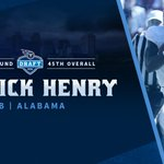 With the 45th overall pick in the 2016 #NFLDraft, the #Titans select @AlabamaFTBL RB Derrick Henry. https://t.co/tgaYlVxr99