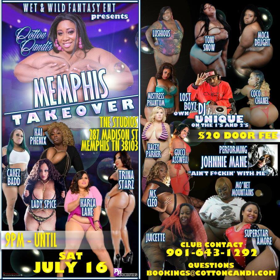 #MEMPHIS JUL16 TNE STUDIOS, 287 MADISON ST., 9P-TIL,$20, CLUB: 9016431292