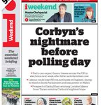 i FRONT PAGE: Corbyns nightmare before polling day #skypapers https://t.co/zj9Gu1qbpw