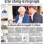 DAILY TELEGRAPH FRONT PAGE: Labour plot to topple Corbyn #skypapers https://t.co/gaafSZXrLI