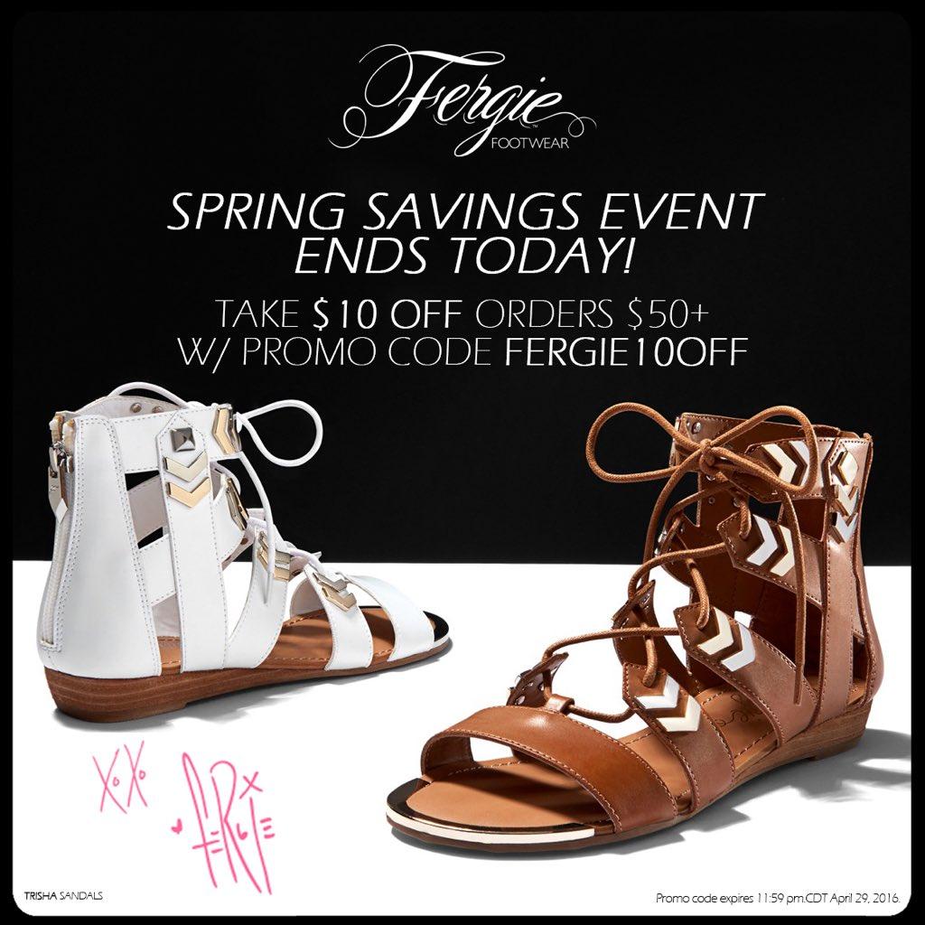 RT @FergieFootwear: #LastDay 2 take $10 OFF all @Fergie #shoeshopping $50+ w/ #promocode FERGIE10OFF!???? #shoesale https://t.co/lk8RDQiILl ht…