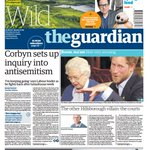 SkyNews: GUARDIAN FRONT PAGE: Corbyn sets up inquiry into antisemitism #skypapers https://t.co/vDEezwpWhz