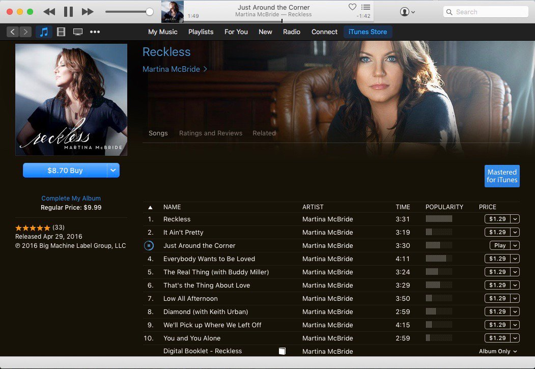 "Go buy the new @martinamcbride album ""Reckless"". SO Good! I'm on track #3! #thankful https://t.co/dqKey1ghYD"