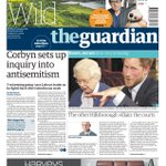 "Saturdays Guardian: ""Corbyn sets up inquiry into antisemitism"" https://t.co/O5ncuJJuQs #BBCPapers #tomorrowspaperstoday (via @hendopolis)"
