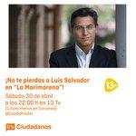 Este sábado cuenta con las intervenciones de @toniroldanm, @ferdeparamo, @GirautaOficial y @LuisSalvador. #Equipo https://t.co/tjtgLCLZ4w