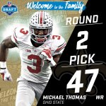 With the #47 pick in the 2016 #NFLDraft, the @Saints select WR MIchael Thomas! https://t.co/vg0nDNh2Fx