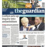 The Guardian front page, Saturday 30.04.16: Corbyn sets up inquiry into antisemitism https://t.co/2ZVusiUiAx