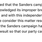 "HRC aide: ""We are pleased that the Sanders campaign has officially acknowledged its improper breach of our data."" https://t.co/wfHTlyHsf4"