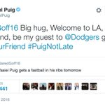Yasiel Puig dug up an awkward tweet from 2013, welcomed Jared Goff to Los Angeles https://t.co/YtCrEX5BHQ https://t.co/rtZQhte9Hx
