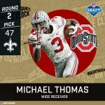 Drew Brees gets a new weapon. Michael Thomas is headed to New Orleans. #NFLDraft https://t.co/Osb9XwEB0F