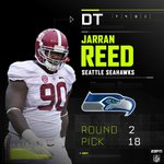 With the 18th pick in the 2nd round, the Seahawks select DT Jarran Reed. #SEApick https://t.co/srdxKVvxAi