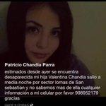 Hija de amigo de @ClacortBuses está extraviada. Favor RT @ConceDatos @Pablosky8a @MejoresDatos @indignadobiobio https://t.co/dvIX9XdRuE