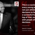 .@CoachDavidShaw was on point last night. 🙌 #NFLDraft #StanfordNFL https://t.co/HrOnBSbPn9