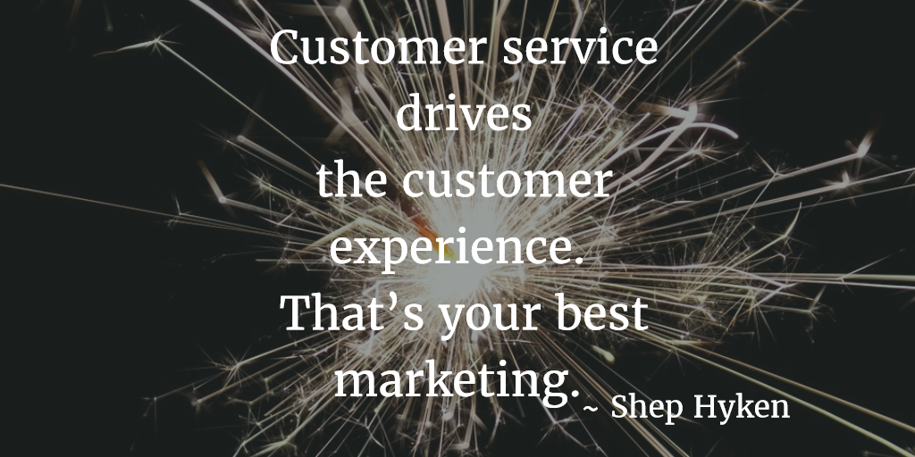 Customer service drives the customer experience.  That's your best marketing. #CX https://t.co/DRoNHIS1h4