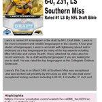 NFL Draft Prospect: Lance Schuffert #50 6-0, 231, LS Southern Miss Rated #1 LS By #NFLDraft2016 @NFLDraftBible https://t.co/AsytvUgTmZ