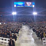 Friday night commencement in the rain! #UFGrad ❤️🐊🎓 https://t.co/5rKjDYWS8P