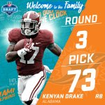 With the #73 pick in the 2016 #NFLDraft, the @MiamiDolphins select RB Kenyan Drake! https://t.co/IBQVbQMICM