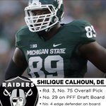 Raiders nab the No. 4 edge defender on PFFs draft board. Scouting report for Calhoun: https://t.co/C60Ju5mOo1 https://t.co/gI2aLGWw9v