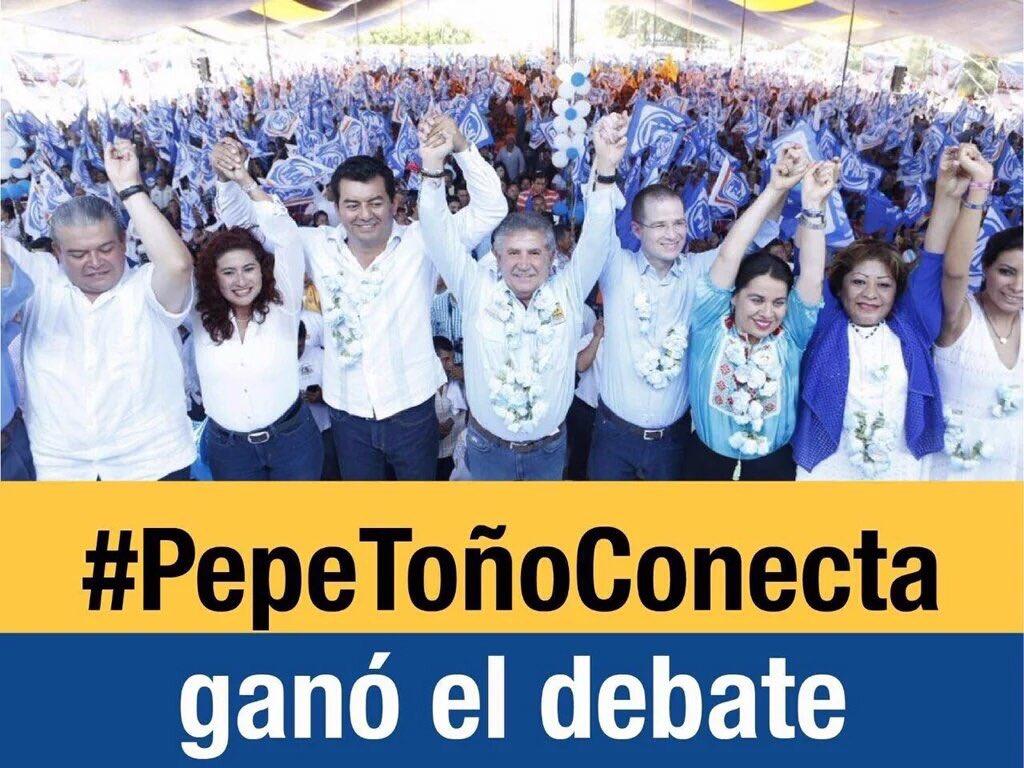 ¡@pepetonoestefan ganó el debate contundentemente! En #Oaxaca estamos #FirmesHaciaElFuturo. #PepeToñoConecta https://t.co/kCUO1teVJw