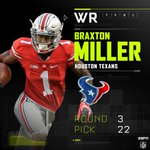Braxton Miller goes to the Houston Texans in the 3rd round. #HOUpick https://t.co/dykTyRhmxK