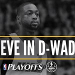 Dwyane Wade made multiple 3-pointers in a playoff game for the first time since 2014 Eastern Conf Finals vs IND. https://t.co/xXQ1V4tju4