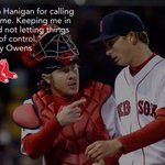 .@henryowensz had nothing but good things to say about Hanigan behind the plate: #RedSox https://t.co/7QccV65W6m