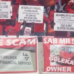 Unhappy AB/SABMILLER owner drivers have taken their plight to #EFFManifestoLaunch #sabcnews https://t.co/FqDCBsE069