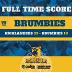 A much needed win after a hard fought 80 minutes of footy! #HIGvBRU #WeAreHighlanders https://t.co/uxj573Kesd