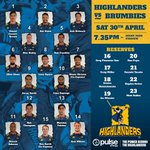 As we close in on Game time, here is a reminder of our lineup for tonights match versus @BrumbiesRugby #HIGvBRU https://t.co/c8z7rqFtEi