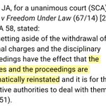 In case there remains any doubt on the effect of the setting aside of a decision to withdraw a prosecution: https://t.co/oHLYQnCBNP