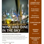 """Try our first """"Wine and Dine in the Sky"""". Contact us at events@prairie360.ca #winnipeg https://t.co/0oslYxiK9X"""