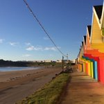 Beach huts and castle @Scarborough_UK on a simply lovely morning. At last! https://t.co/ycL3HMmM4x