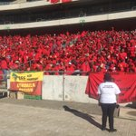 #EFFManifestoLaunch Supporters in high spirits as they start filling up the Orlando Stadium.KG https://t.co/oOxwuAqE10