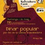 Compreu avui els tiquets pel dinar de l#1demaig. #Construintautogestió #PoderPopular #Girona https://t.co/97WCybARwM