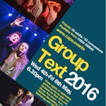 Excited for Y1 Group Text performances next wk.3 fabulous diverse plays!Tickets on sale now https://t.co/oweaxhfMoC https://t.co/ljimVKlYZW