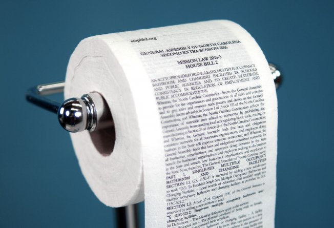 "North Carolina ad agency prints the HB2 transgender restroom legislation on toilet paper, saying: ""Flush it!"" https://t.co/OjhZ80TlDY"