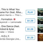 """#ThisIsWhatYouCameFor is now officially #1 on US  iTunes & dethroned """"Formation"""" as the best selling song in US. https://t.co/0vIvxuio3G"""