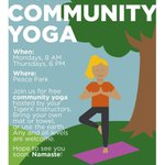 Your new Monday morning plans: (free!) community yoga at Peace Park with our TigerX instructors. 😃 https://t.co/cWRIqwNrnV