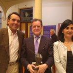 Gala Entrega Premios de @PeriodistasAB, @FrancisRubioGme y @arturo_gotor junto al premiado @JosHervas ¡Enhorabuena! https://t.co/2YUgEWeR7U