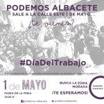 Te esperamos en la manifestación en #Albacete este domingo, 1 de mayo. ¡No faltes! https://t.co/5zhZ6MGsQZ