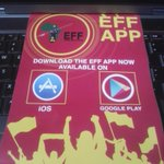 MT @Hlengi: So EFF has an App. These pamphlets were distributed to the crowd in the stadium #EFFManifestoLaunch https://t.co/TDCwQ4Cj4V