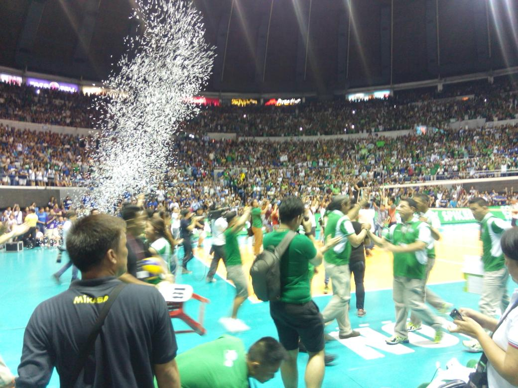 It was their defense in the 4th set that got them the win.  Congratulations DLSU Lady Spikers ! https://t.co/Uc9I6JKlc8