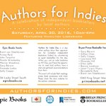 Today is Authors for Indies Day in #HamOnt.  Join HPL @bryanprincebks & @epic_books @Authors4indies from 10am-4pm https://t.co/100twoTJNk