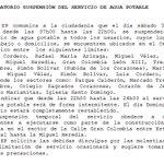 RECORDATORIO Suspensión del servicio de agua potable @MunicipioCuenca #Cuenca https://t.co/22SdwrK03O