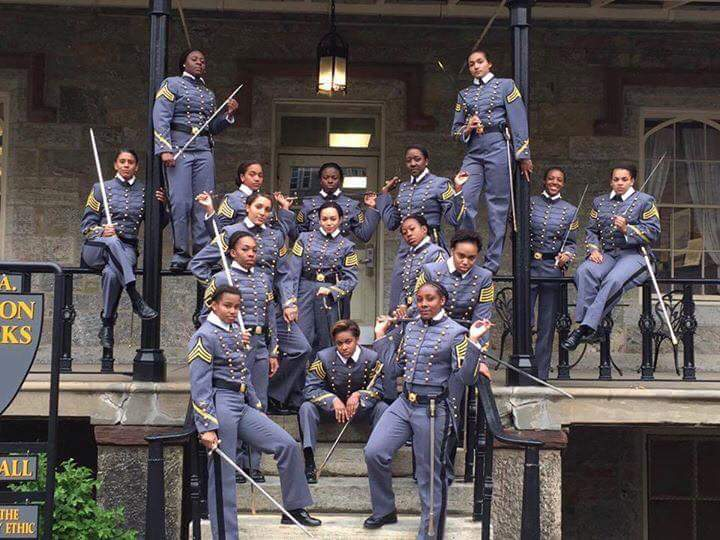 The Black women graduates of the United States Military Academy at Westpoint's Class of 2016. (Photo by Tom Hinds) https://t.co/omM6EI34kQ