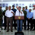 #ENVIVO: @JuanManSantos: Las órdenes para la Fuerza Pública es que sigan combatiendo al ELN https://t.co/VJBkcVdXGb https://t.co/tdIg4c1ISL