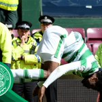 Front flips, back flips, one roly-poly and some dancing! The Celts celebrate at Tynecastle https://t.co/CzcQlWEVgM https://t.co/1k28Xfgpt1