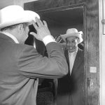 The great Duke Ellington with his #yyc white hat in 1953. Happy International #JazzDay https://t.co/O3slb91pOr