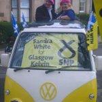 .@AngrySalmond #sexysocialism style canvassing wth @GradySNP for @SNPKelvin Re-elect @SandraWhiteSNP #SP16 https://t.co/J4TcT75DjG