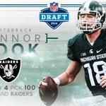 Congratulations Connor Cook on being drafted by the @RAIDERS! Welcome to the Silver and Black. #NFLDraft https://t.co/dcbQfGeVye